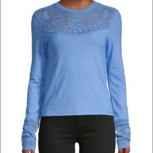 NWT- Free people Colette Pointelle Ribbed Sweater